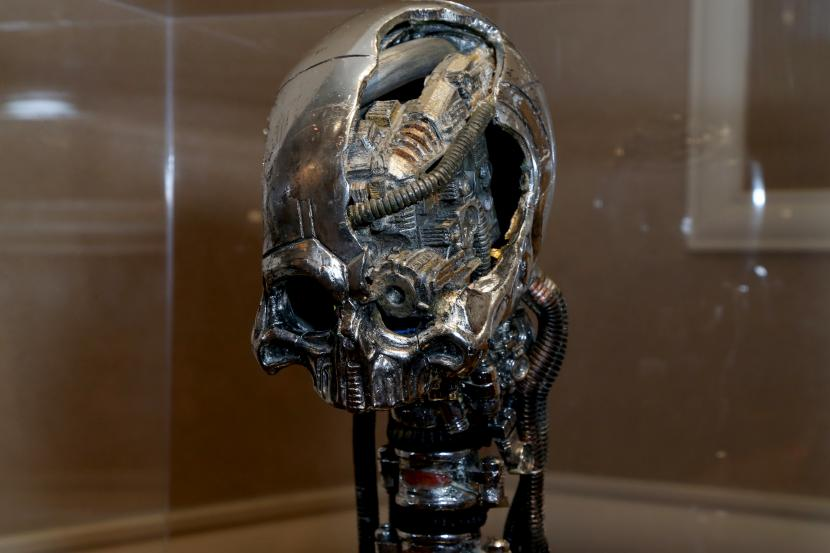 The Borg Queen's skull on display at STLV