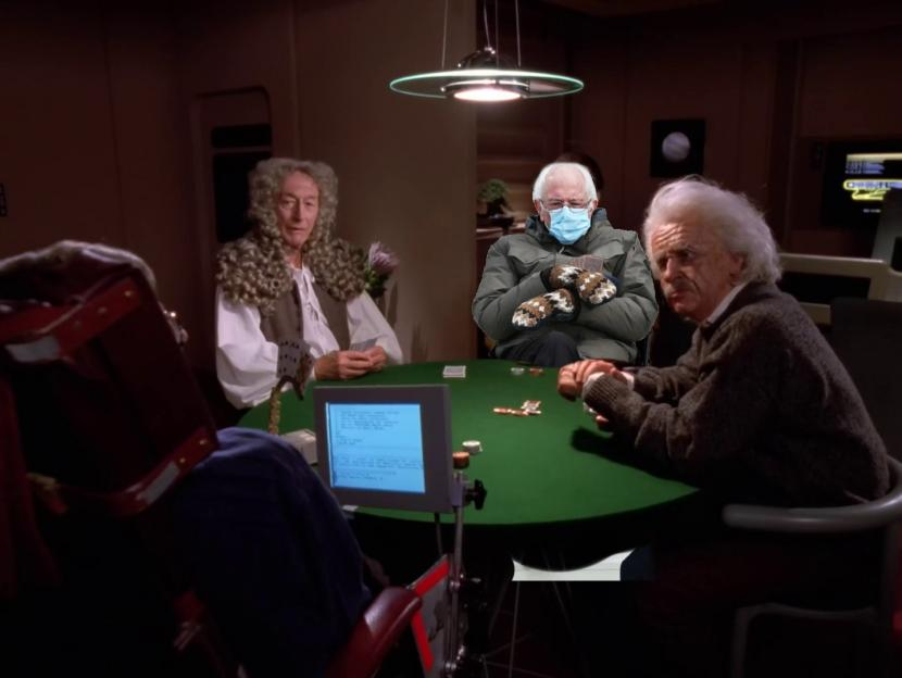 #BernieBeams into the Poker Game