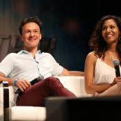 Actors Harry Judge and Rekha Sharma answer audience questions during the 'ST: Discovery' panel