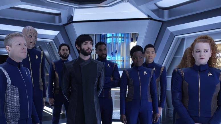 Anthony Rapp as Stamets; Doug Jones as Saru; Shazad Latif as Tyler; Ethan Peck as Spock; Ronnie Rowe as Bryce; Oyin Oladejo as Owosekun; Patrick Kwok-Choon as Rhys; Mary Wiseman as Tilly