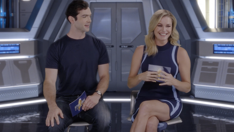 Star Trek: Discovery - Ethan Peck and Rebecca Romijn